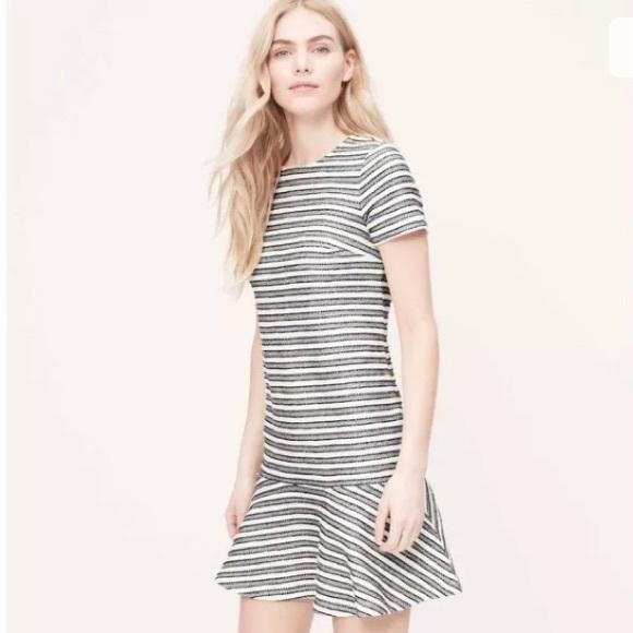 a2f786e6247e2 Ann Taylor Loft Tweed Stripe Tennis Dress 10
